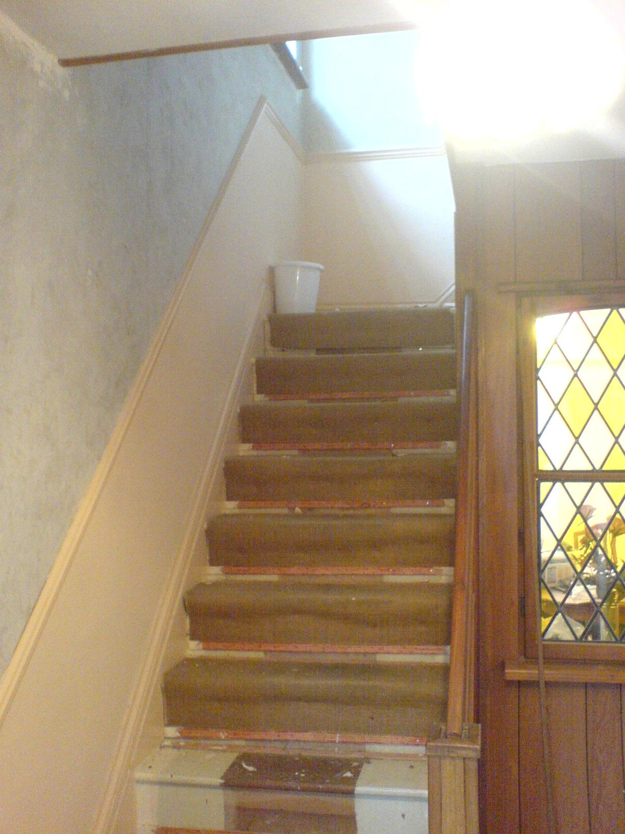 Hall stairs before