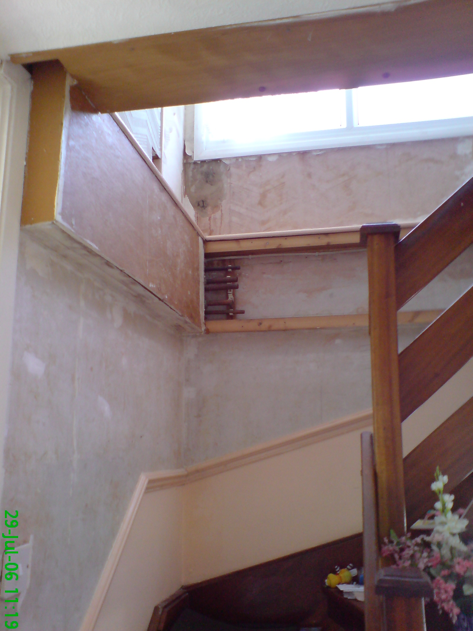 Loft stairs before